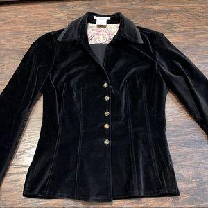 Vintage Vertigo Jewel Buttons Fitted Blazer